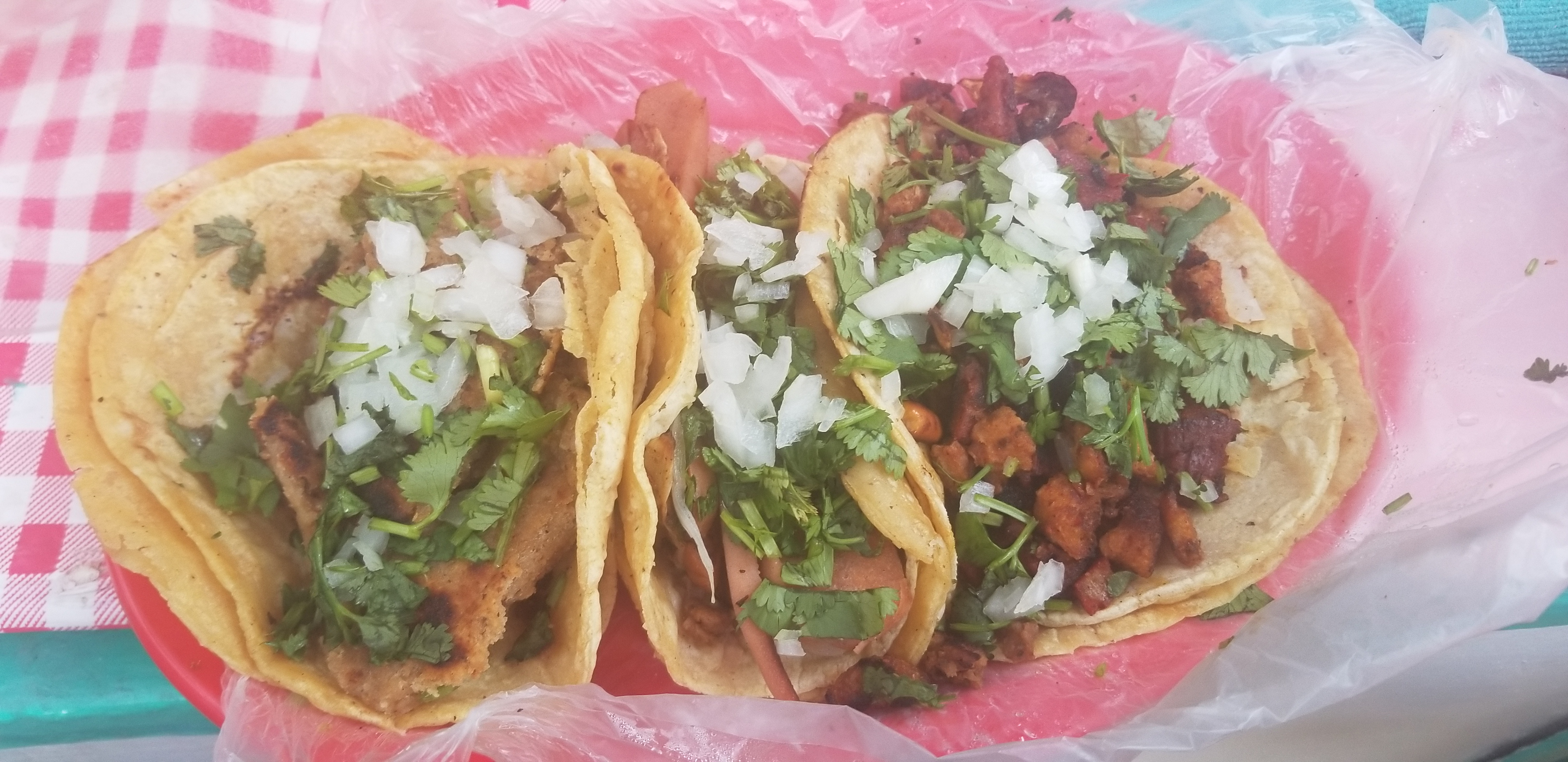 Three tacos from Gatorta